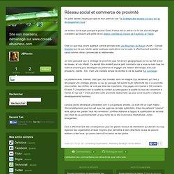 Réseau social et commerce de proximité - JBlog Pro, by JB Planti