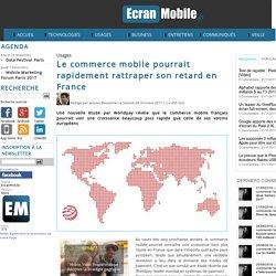 Le commerce mobile pourrait rapidement rattraper son retard en France