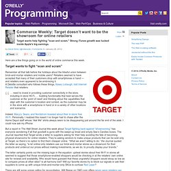 Commerce Weekly: Target doesn't want to be the showroom for online retailers
