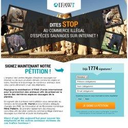 Dites stop au commerce illégal d'espèces sauvages sur internet