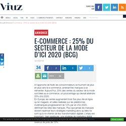 E-commerce : 25% du secteur de la mode d'ici 2020 (BCG)