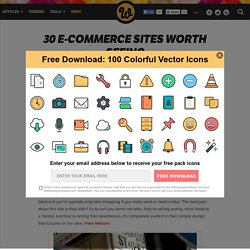 30 e-commerce sites worth seeing
