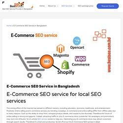 E-Commerce SEO service - local E-Commerce SEO services in Bangladesh