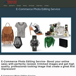 E-commerce Photo Editing Services