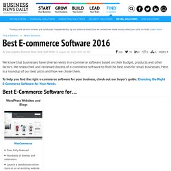 Best E-Commerce Software for Small Business 2016