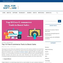 Top 10 Free E-commerce Tools to Boost Sales - Latest Software Deals, Offers, Coupons & Promo Codes
