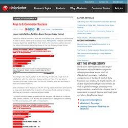 Keys to E-Commerce Success