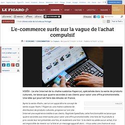 Exp rience de consommation marketing pearltrees - Vente flash internet ...