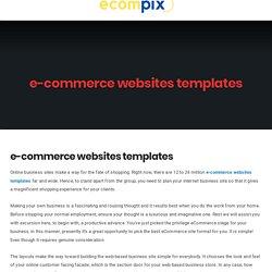 e-commerce websites templates - Ecompix - ecommerce