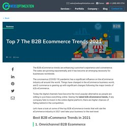 Top 7 B2B e-commerce trends for 2021 and beyond