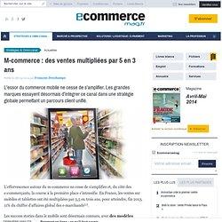 M-commerce : des ventes multipliées par 5 en 3 ans