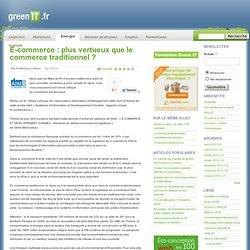 E-commerce : plus vertueux que le commerce traditionnel ?