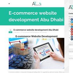 E-commerce Website Development Abu Dhabi