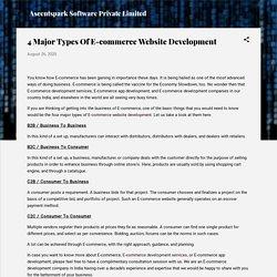 4 Major Types Of E-commerce Website Development
