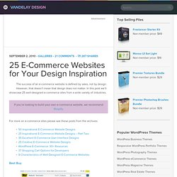 25 E-Commerce Websites for Your Design Inspiration