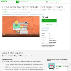 E-Commerce WordPress Website: The Complete Course