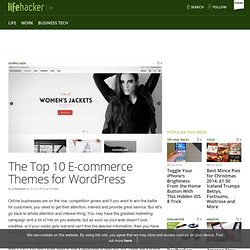 The Top 10 E-commerce Themes for WordPress