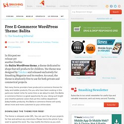 Free E-Commerce WordPress Theme: Balita - Smashing Magazine
