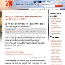 La fin des commerces de proximité dans les campagnes françaises ?