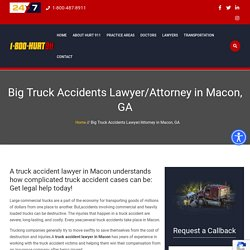 Truck Accident Lawyer Macon