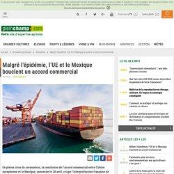PLEINCHAMP 29/04/20 Malgré l'épidémie, l'UE et le Mexique bouclent un accord commercial