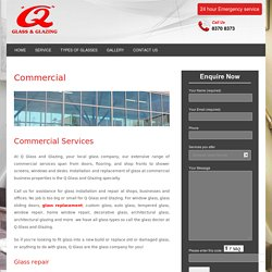 Commercial Glass Repair Service in Adelaide