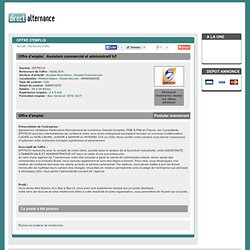 Emploi - ASSISTANT COMMERCIAL ET ADMINISTRATIF H/F - EPITECH - Direct Alternance