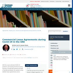 Commercial Lease Agreements during Covid-19 in the UAE