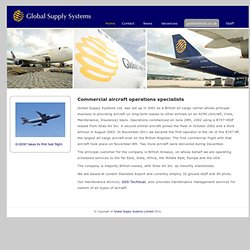 . . .Global Supply Systems. . . Apache