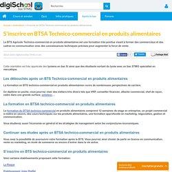 S'inscrire en BTSA Technico-commercial en produits alimentaires