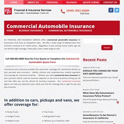 Commercial Automobile Insurance for Businesses of all sizes