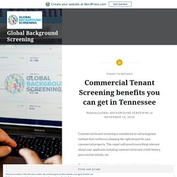 Commercial Tenant Screening benefits you can get in Tennessee