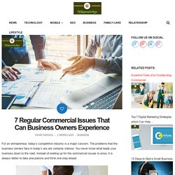 Commercial Issues That Can Business Owners Experience