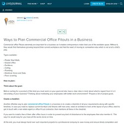 Ways to Plan Commercial Office Fitouts in a Business