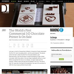 The World's First Commercial 3-D Chocolate Printer Is On Sale