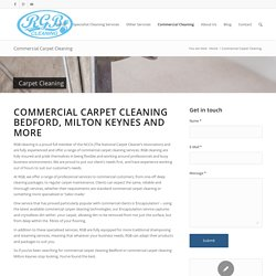 commercial carpet cleaning Bedford, Milton Keynes & more