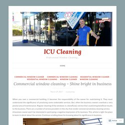 Commercial window cleaning - Shine bright in business