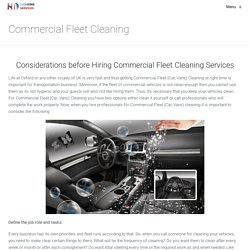 Commercial Fleet Cleaning, HD Clean, Cheltenham, Swindon