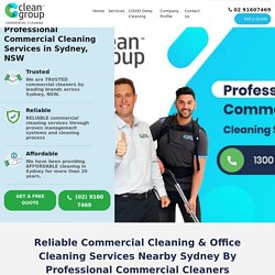 Commercial Cleaning & Office Cleaning - Commercial Cleaners - Sydney - Clean Group