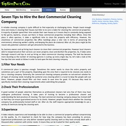 Best Tips for Hiring a Commercial Cleaning Company
