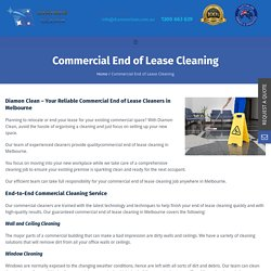 Commercial End of Lease Cleaning Melbourne - Diamon Clean