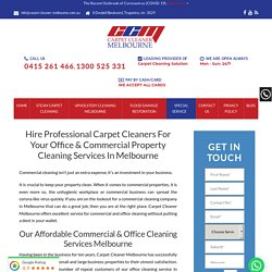 #1 Commercial Carpet Cleaning Melbourne - Best Office Cleaner in Melbourne