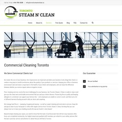 Extensive Commercial Cleaning Service in Toronto By Skilled Team