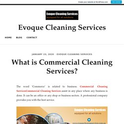 What is Commercial Cleaning Services?