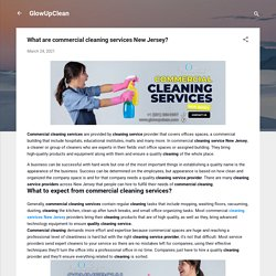 What are commercial cleaning services New Jersey?