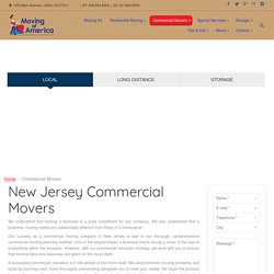 Commercial Moving Company New Jersey