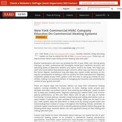 New York Commercial HVAC Company Educates On Commercial Heating Systems