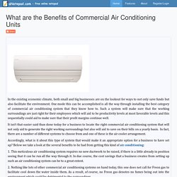 What are the Benefits of Commercial Air Conditioning Units