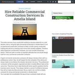 Hire Reliable Commercial Construction Services In Amelia Island