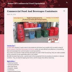 Commercial Food And Beverages Containers